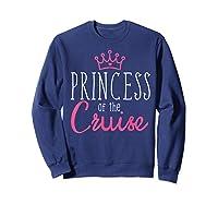 Princess Cruise Cruising Vacation Ship Girl Embark Shirts Sweatshirt Navy