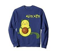 Avocato Funny Cute Cat Gift For Vegan Shirts Sweatshirt Navy