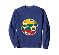 Lithuania Flag Soccer Ball Team Fan Shirt Sweatshirt Navy
