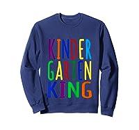 Kindergarten King Back To School Child's Shirts Sweatshirt Navy
