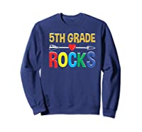5th Grade Rocks Cute Back To School Tea Gift Premium T-shirt Sweatshirt Navy