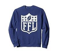 Fantasy Football Retro Distressed Ffl Logo Champion Gift Shirts Sweatshirt Navy
