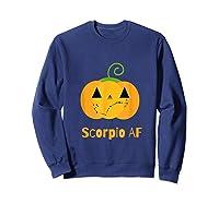 Scorpio Af Zodiac Constellation T-shirt Sweatshirt Navy
