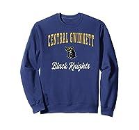 Central Gwinnett High School Black Knights Shirts Sweatshirt Navy