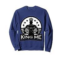 Grand Arte: King Me Boxing T-shirt Sweatshirt Navy