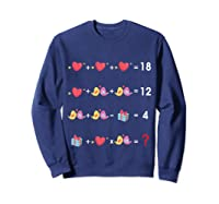 Order Of Operations Quiz Funny Valentine Math Tea Shirts Sweatshirt Navy