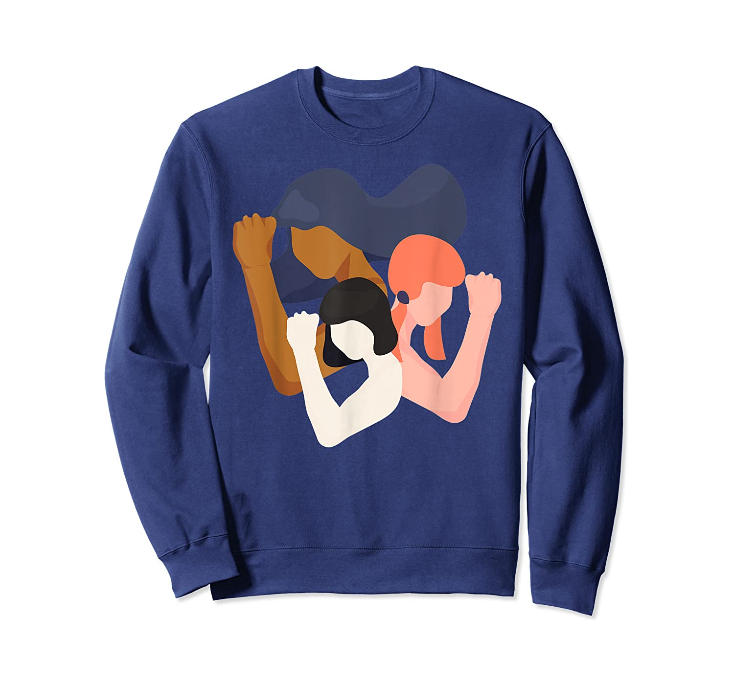 Girls And Unity Power In Diversity Feminist Shirts Crewneck Sweater