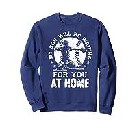 Baseball Mom Apparel Baseball Dad Merchandise Premium T-shirt Sweatshirt Navy