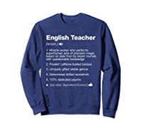 English Tea Definition Meaning Funny T-shirt Sweatshirt Navy