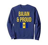 Bajan Proud Barbados Flag Caribbean Shirts Sweatshirt Navy