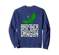Brother Dragon Christmas Shirt Matching Family Tribe Son Boy T-shirt Sweatshirt Navy