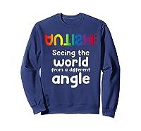 Special Needs Tea Student Gift Autism Awareness Month Shirts Sweatshirt Navy