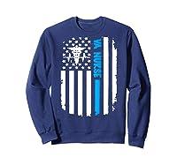 Va Nurse Distressed American Flag Short Sleeve Tshirt Sweatshirt Navy