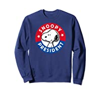 Peanuts Snoopy For President Shirts Sweatshirt Navy
