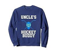 Uncle's Hockey Buddy Ice Hockey Player Buddy Shirts Sweatshirt Navy
