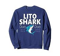 S Lito Shark Gift T-shirt Sweatshirt Navy