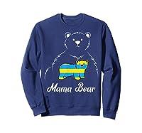 Down Syndrome Mom Awareness Trisomy 21 Gold Blue Ribbon Gift T-shirt Sweatshirt Navy