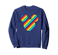 Mickey Mouse Rainbow Icon Shirts Sweatshirt Navy