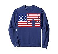 Gymnastics Rings Usa American Flag Gymnast 4th Of July T-shirt Sweatshirt Navy
