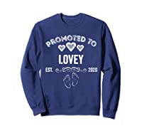 Promoted To Lovey Est 2020 Shirt Gift For Mom T-shirt Sweatshirt Navy