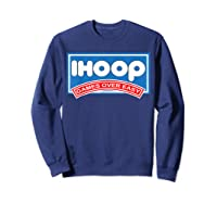 Ihoop Fun Basketball Shirt - Games Over Easy Graphic T-shirt Sweatshirt Navy