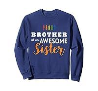 Proud Brother, Gay Pride Lgbt Shirts Sweatshirt Navy