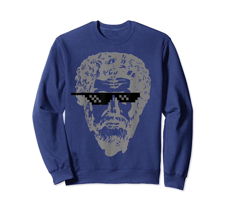 Marcus Aurelius Sunglasses T-shirt Funny Stoic Crewneck Sweater