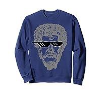 Marcus Aurelius Sunglasses T-shirt Funny Stoic Sweatshirt Navy