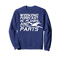 Rc Plane T-shirt For Guys Rc Planes And Scattered Parts Sweatshirt Navy