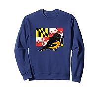 State Birdorable Of Maryland Cute Baltimore Oriole Shirts Sweatshirt Navy