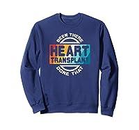 Heart Transplant Organ Recipient Survivor Gift Shirts Sweatshirt Navy