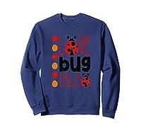 Love Bug Tribe Red Lady Bug Girls Squad Shirts Sweatshirt Navy