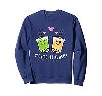 You Had Me At Boba Tea Shirts Sweatshirt Navy
