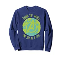 Earth Day Saving The World One Day At A Time Shirts Sweatshirt Navy