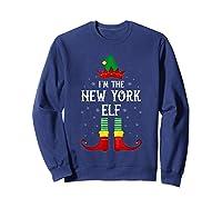 I\\\'m The New York Elf Family Group Christmas T-shirt Sweatshirt Navy
