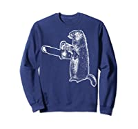 Funny Woodchuck Groundhog Day Could Chainsaw Wood Shirts Sweatshirt Navy