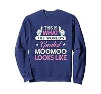 Moomoo Shirt Gift: World\\\'s Greatest Moomoo T-shirt Sweatshirt Navy