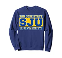 San Jose State 1887 University Apparel Shirts Sweatshirt Navy