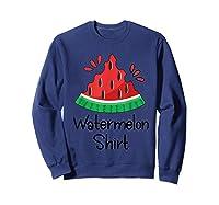 Watermelon Shirt - Cute Fun Of Summer Watermelon T-shirt Sweatshirt Navy