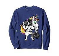Weightlifting Ness Unicorn Shirts Sweatshirt Navy