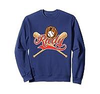 Baseball Player Rudy Birthday Boy T-shirt \\\'s Name Sweatshirt Navy