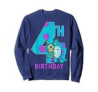Pixar Monsters Inc Mike Sully Happy 4th Birthday Shirts Sweatshirt Navy