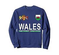 Wales Cheer 2017 Football Welsh Shirts Sweatshirt Navy