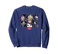 Naruto Shippuden Group Panels Shirts Sweatshirt Navy