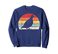 Vintage Retro Grouse T-shirt Sweatshirt Navy