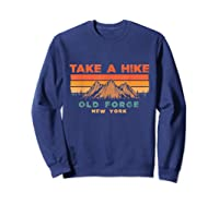 New York Vintage Take A Hike Old Forge Moutain T-shirt Sweatshirt Navy
