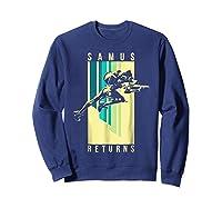 Nintendo Metroid Samus Returns Spotlight Graphic T-shirt Sweatshirt Navy