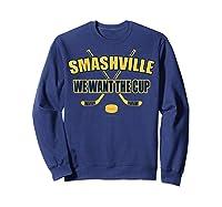Smashville Nashville Proud Hockey Shirts Sweatshirt Navy
