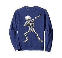 Dabbing Skeleton Halloween Costume Gift T-shirt Sweatshirt Navy