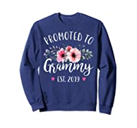 Promoted To Grammy Est 2019 Baby Announce Shirts Sweatshirt Navy